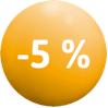 Bénéficiez de 5 % de remise